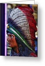 Tobacco Store Indian Greeting Card by Robert Ullmann