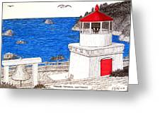 Trinidad Memorial Lighthouse Greeting Card by Frederic Kohli