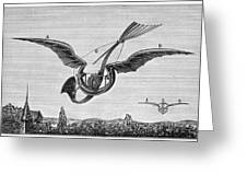 Trouv�s Ornithopter Greeting Card by Granger