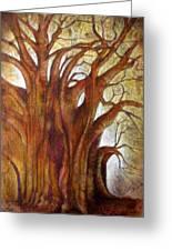 Tule Tree Greeting Card by Jose Espinoza