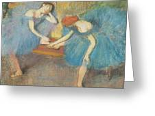 Two Dancers At Rest Greeting Card by Edgar Degas