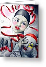 Two Faces Greeting Card by Scarlett Royal