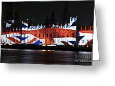 Union Jack Greeting Card by John Rizzuto