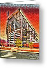 University Of Maryland - Byrd Stadium Greeting Card by Stephen Younts