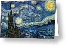 Van Gogh Starry Night Greeting Card by Granger