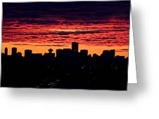Vancouver Sunset Greeting Card by Naman Imagery