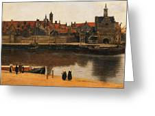 View Of Delft Greeting Card by Jan Vermeer