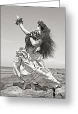 Wahine Hula Greeting Card by Himani - Printscapes