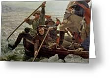Washington Crossing the Delaware River Greeting Card by Emanuel Gottlieb Leutze
