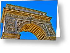 Washington Square Arch Greeting Card by Randy Aveille