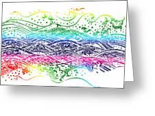 Water Pattern Greeting Card by Setsiri Silapasuwanchai