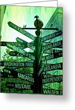 Where To Go Greeting Card by Cathie Tyler