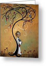 Whichever Way The Wind Blows Greeting Card by Charlene Zatloukal