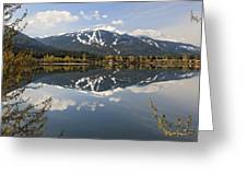 Whistler Blackcomb Green Lake Reflection Greeting Card by Pierre Leclerc Photography
