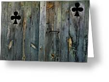 Wooden Door Greeting Card by Bernard Jaubert
