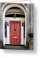 Wooden Door Savannah Greeting Card by Thomas Marchessault