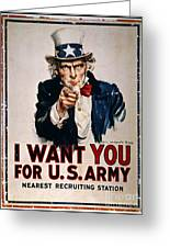 World War I: Uncle Sam Greeting Card by Granger