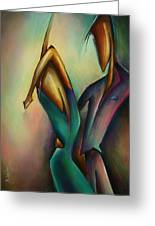X Greeting Card by Michael Lang