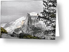 Yosemite Half Dome Greeting Card by Chuck Kuhn