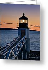 Marshall Point Lighthouse Greeting Card by John Greim