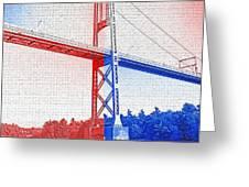 1000 Island International Bridge 2 Greeting Card by Steve Ohlsen