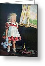 101 Imagination Girl Greeting Card by Sigrid Tune