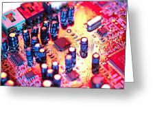 Circuit Board Greeting Card by Tek Image