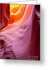 Antelope Canyon Greeting Card by Sabino Parente