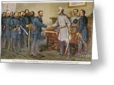 Lees Surrender 1865 Greeting Card by Granger