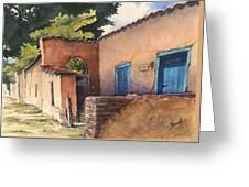 1247 Agua Fria Street Greeting Card by Sam Sidders