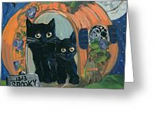 1313 Spooky Lane Greeting Card by Sylvia Pimental