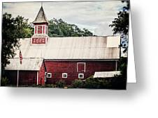 1886 Red Barn Greeting Card by Lisa Russo