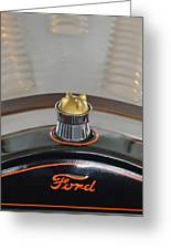 1924 Ford Model T Roadster Hood Ornament Greeting Card by Jill Reger