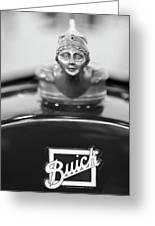 1928 Buick Custom Speedster Hood Ornament 4 Greeting Card by Jill Reger