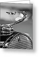 1930 Cadillac Roadster Hood Ornament 2 Greeting Card by Jill Reger