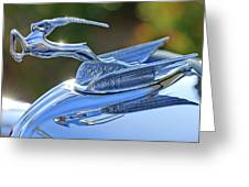1933 Chrysler Imperial Hood Ornament 2 Greeting Card by Jill Reger