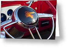 1933 Pontiac Steering Wheel Greeting Card by Jill Reger