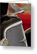 1935 Chevrolet Optional Eagle Hood Ornament Greeting Card by Jill Reger