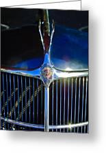 1935 Chrysler Hood Ornament 2 Greeting Card by Jill Reger