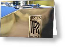 1935 Rolls-Royce Phantom II Hood Ornament Greeting Card by Jill Reger