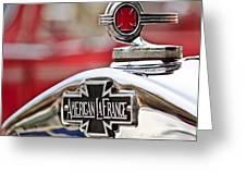 1936 American LaFrance Fire Truck Hood Ornament Greeting Card by Jill Reger