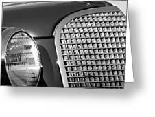 1937 Cadillac V8 Hood Ornament 3 Greeting Card by Jill Reger