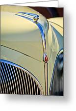 1941 Lincoln Continental Cabriolet V12 Grille Greeting Card by Jill Reger