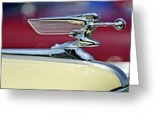 1941 Packard Hood Ornament 3 Greeting Card by Jill Reger