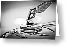 1948 Bentley Hood Ornament 2 Greeting Card by Jill Reger