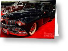 1948 Lincoln Continental Coupe . Deep Blue . 7d9256 Greeting Card by Wingsdomain Art and Photography
