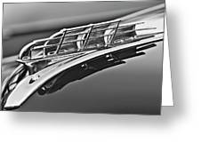 1949 Plymouth Hood Ornament 2 Greeting Card by Jill Reger