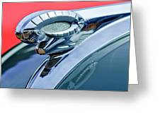 1950 Dodge Coronet Hood Ornament Greeting Card by Jill Reger