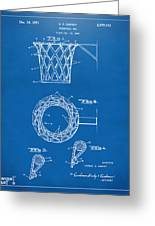1951 Basketball Net Patent Artwork - Blueprint Greeting Card by Nikki Marie Smith