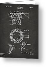 1951 Basketball Net Patent Artwork - Gray Greeting Card by Nikki Marie Smith